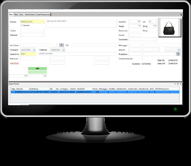 raccolta gestione ordini software wu-bags